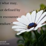 Come what may, God is not defined