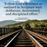 Follow God's direction as outlined