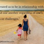 God created us to be in relationship