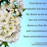 God shows us we are valuable but not essential