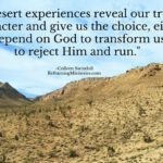Desert experiences reveal our