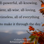 God is all-powerful, all-knowing, all-sufficient