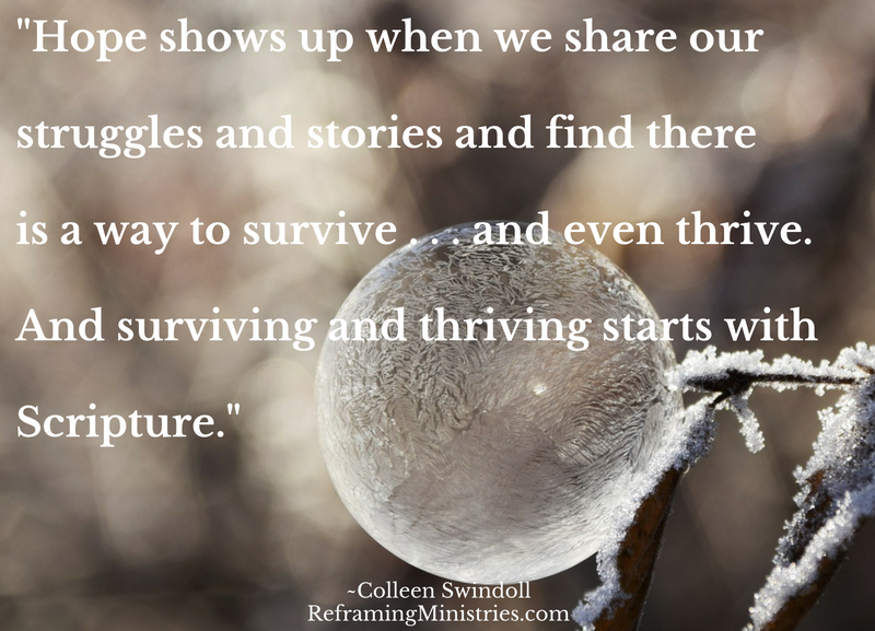 Hope shows up when we share our struggles